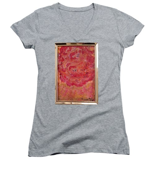 Floral Abstract 1 Women's V-Neck