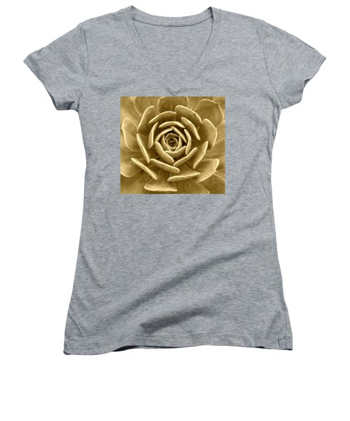 Floral Abstract Women's V-Neck