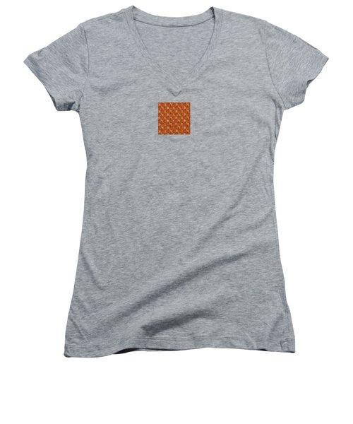 Floral Adornment Women's V-Neck T-Shirt