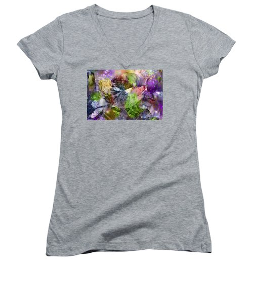 Floral Dream Of Oriental Beauty Women's V-Neck