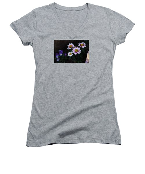 Floral  Women's V-Neck T-Shirt
