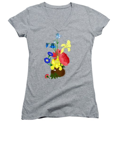 Floral Still Life 1674 Women's V-Neck