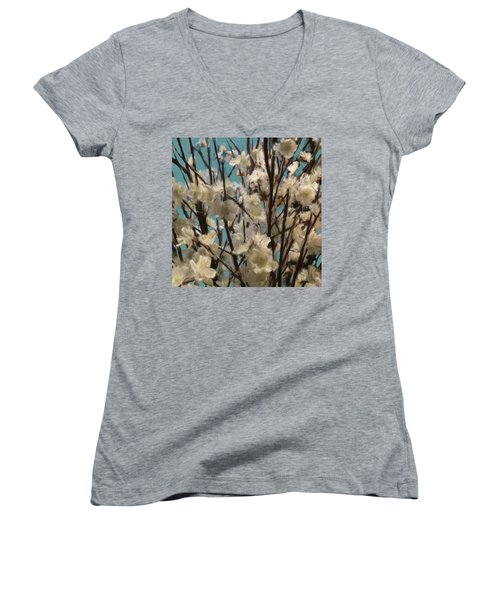 Floral02 Women's V-Neck T-Shirt