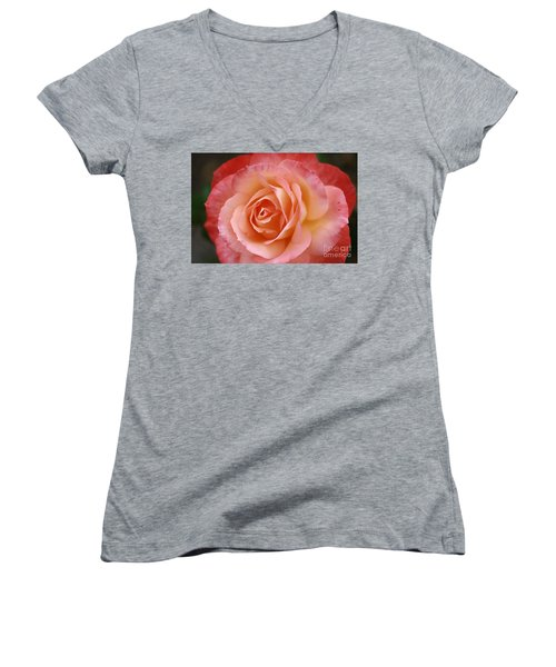 Women's V-Neck T-Shirt (Junior Cut) featuring the photograph Florange by Stephen Mitchell