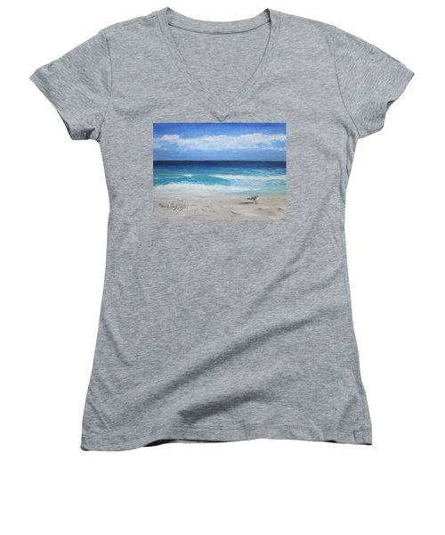 Florida Seagull Women's V-Neck T-Shirt