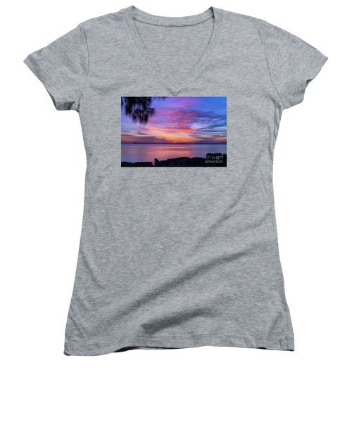 Florida Sunset #2 Women's V-Neck