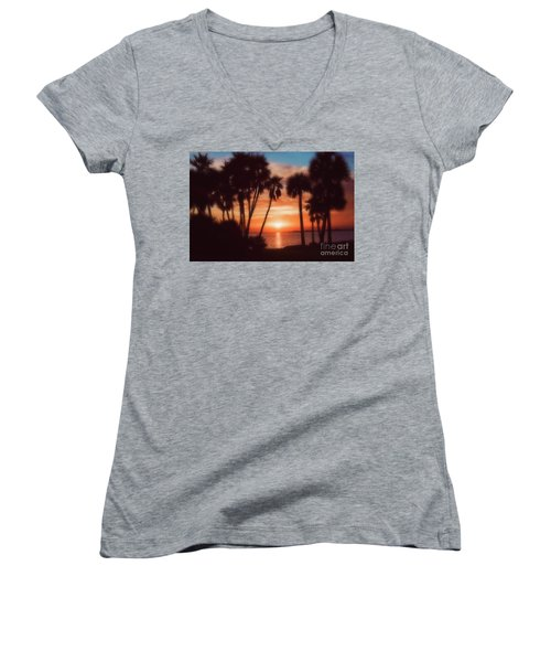 Florida- Sunset Memories Women's V-Neck (Athletic Fit)