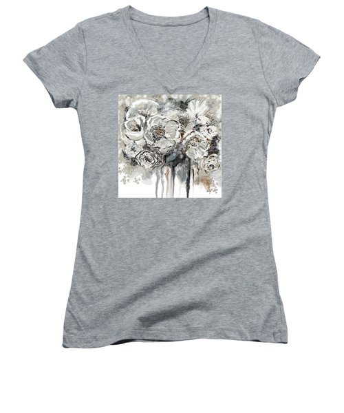 Floral Anxiety  Women's V-Neck T-Shirt