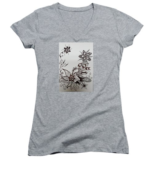 Flower 9 Women's V-Neck T-Shirt