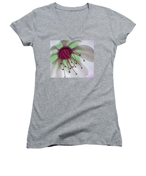 Flower Art Women's V-Neck