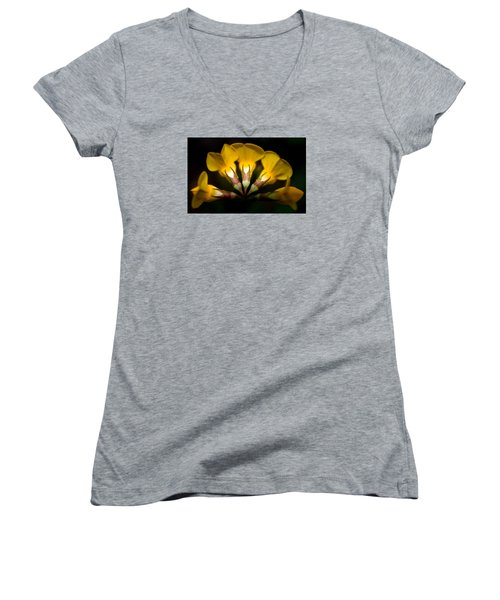 Flower Candelabra Women's V-Neck T-Shirt (Junior Cut) by Adria Trail