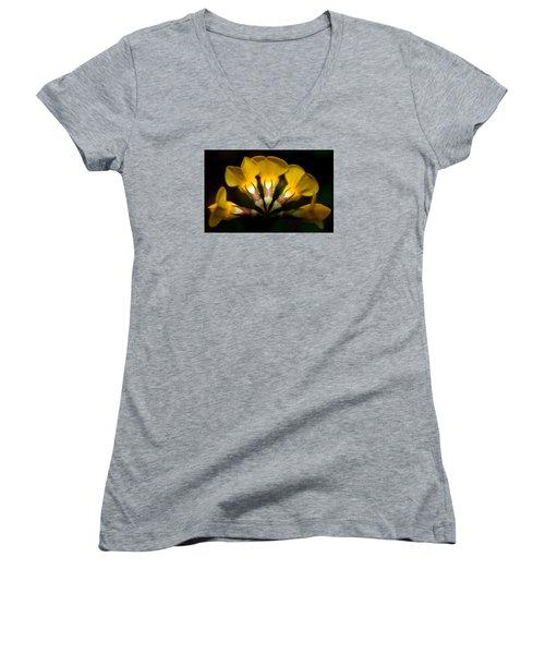 Flower Candelabra Women's V-Neck T-Shirt
