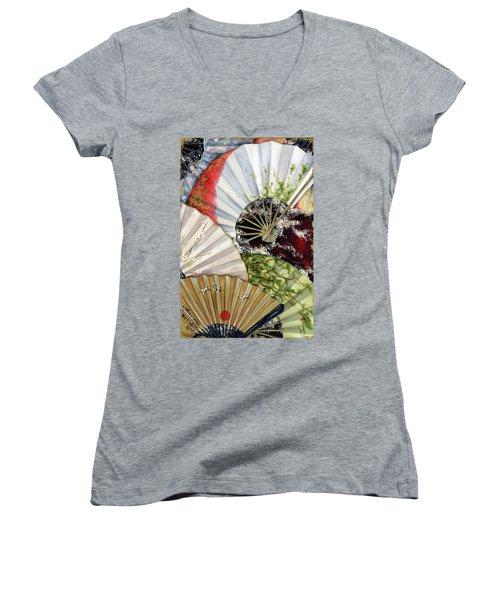 Flower Garden Women's V-Neck (Athletic Fit)