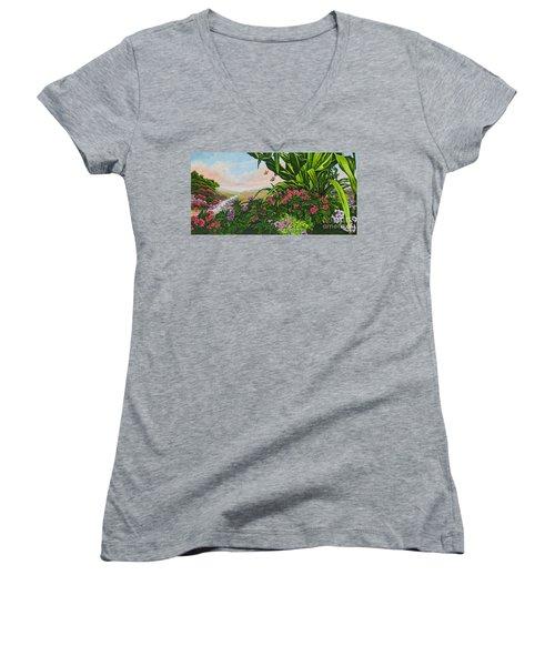 Flower Garden Vii Women's V-Neck T-Shirt