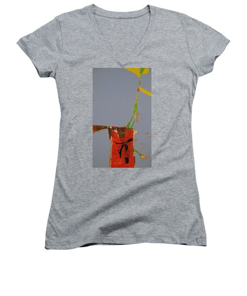 Flower In Pitcher- Abstract Of Course Women's V-Neck