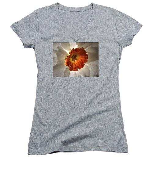Flower Narcissus Women's V-Neck
