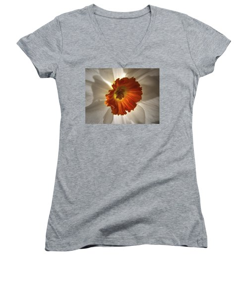 Flower Narcissus Women's V-Neck (Athletic Fit)