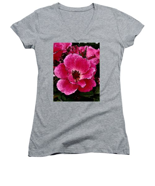 Flower Painting Collection 19 Women's V-Neck (Athletic Fit)