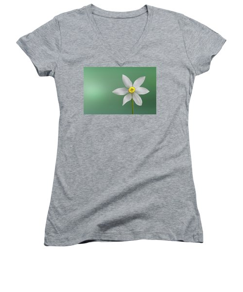 Flower Paradise Women's V-Neck T-Shirt (Junior Cut) by Bess Hamiti