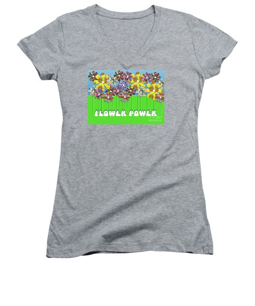 Flower Power Women's V-Neck