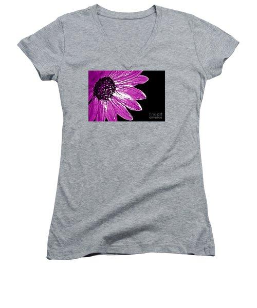Flower Power  Women's V-Neck T-Shirt (Junior Cut)