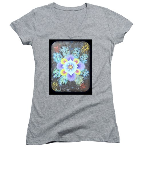 Floral Vortex Women's V-Neck T-Shirt