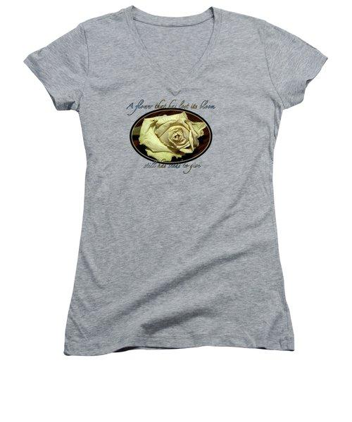 Flower Wisdom Women's V-Neck T-Shirt
