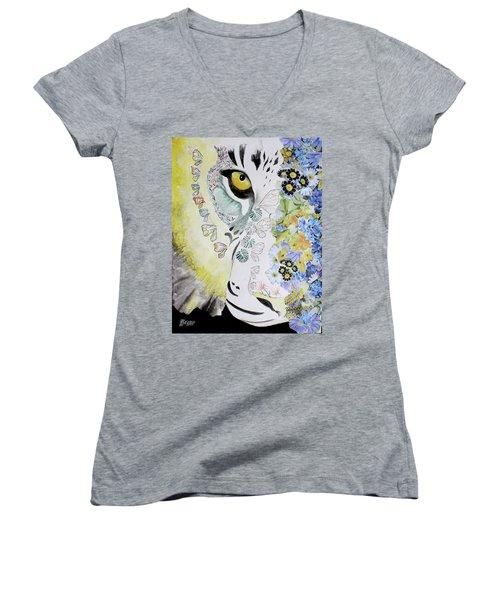 Flowerpower Women's V-Neck T-Shirt