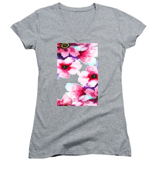 Flowers 04 Women's V-Neck