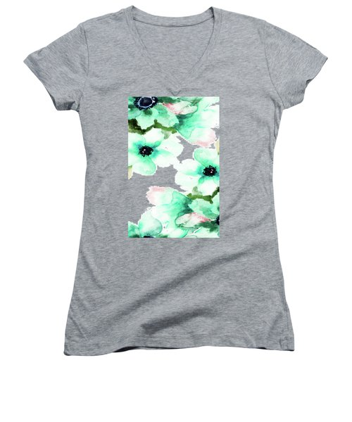 Flowers 07 Women's V-Neck