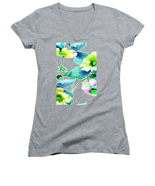 Flowers 08 Women's V-Neck