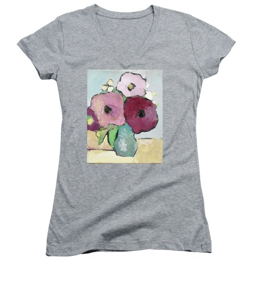 Flowers 1601 Women's V-Neck (Athletic Fit)