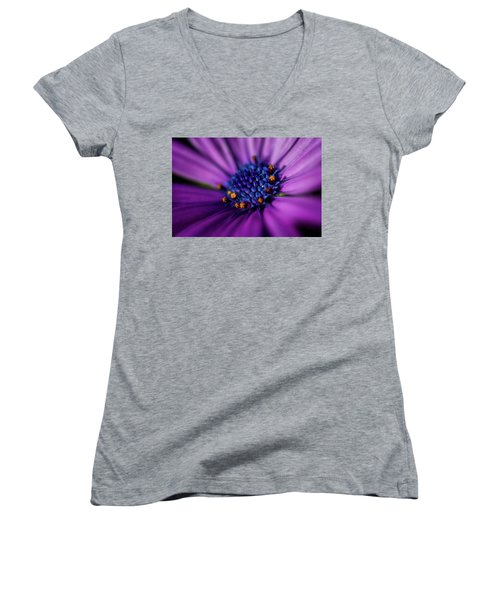 Women's V-Neck T-Shirt (Junior Cut) featuring the photograph Flowers And Sand by Darren White