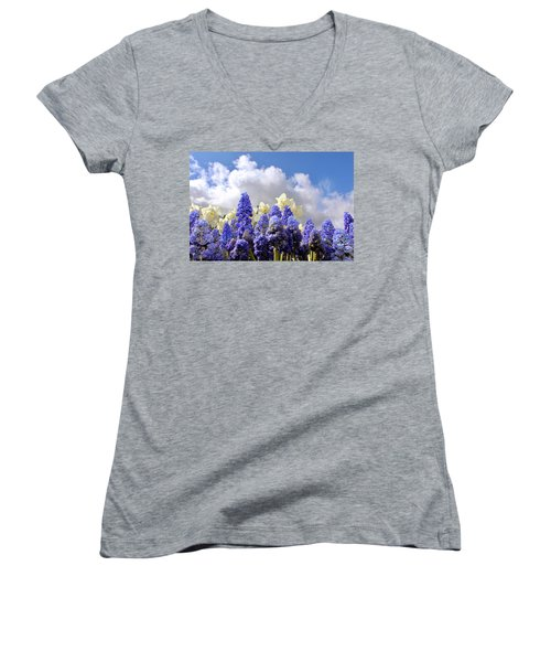Flowers And Sky Women's V-Neck (Athletic Fit)