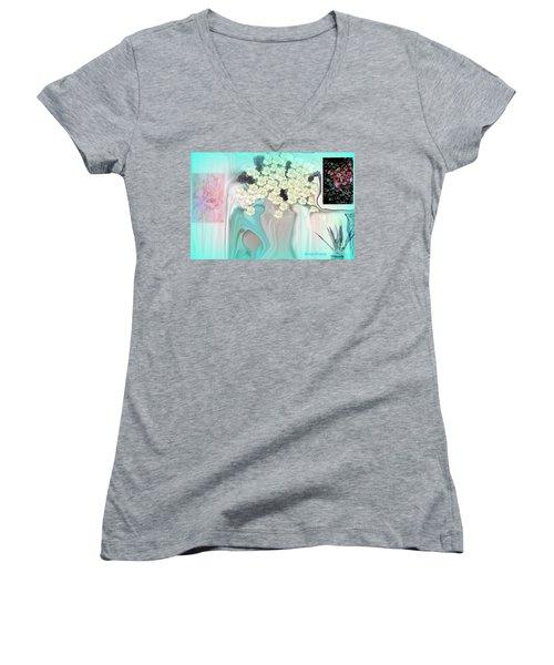 Water Please Women's V-Neck T-Shirt (Junior Cut) by Sherri's Of Palm Springs