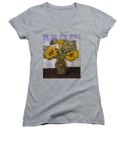 Flowers For Janice Women's V-Neck T-Shirt