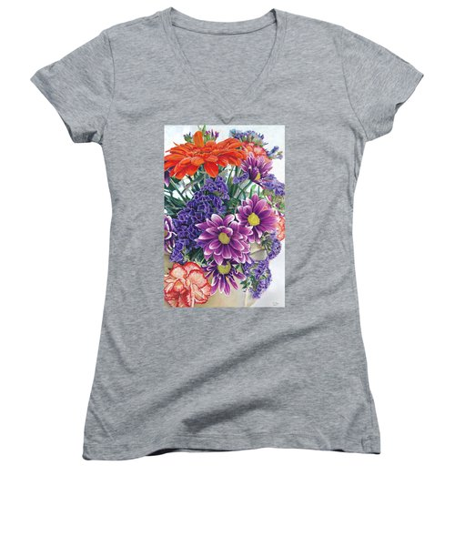 Flowers From Daughter Women's V-Neck (Athletic Fit)