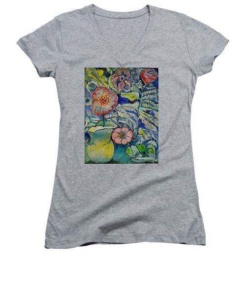 Flowers Gone Wild Women's V-Neck