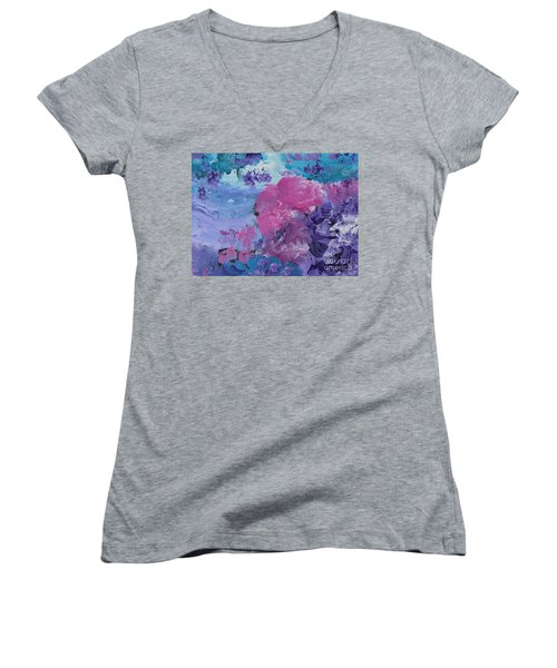Flowers In The Clouds Women's V-Neck