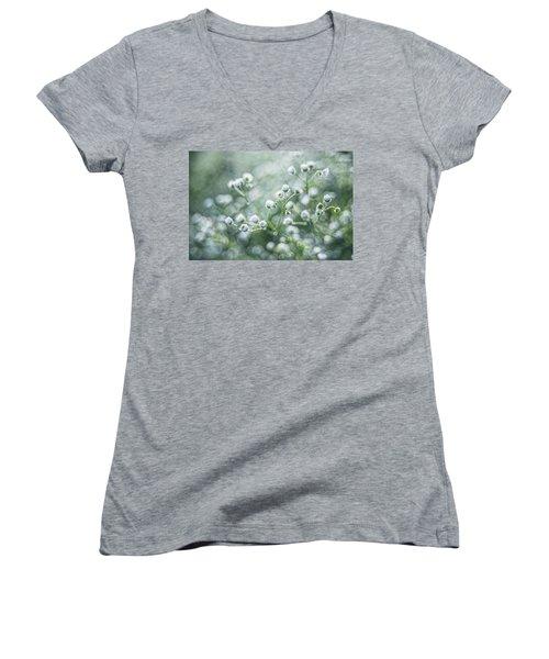 Women's V-Neck T-Shirt (Junior Cut) featuring the photograph Flowers by Jaroslaw Grudzinski