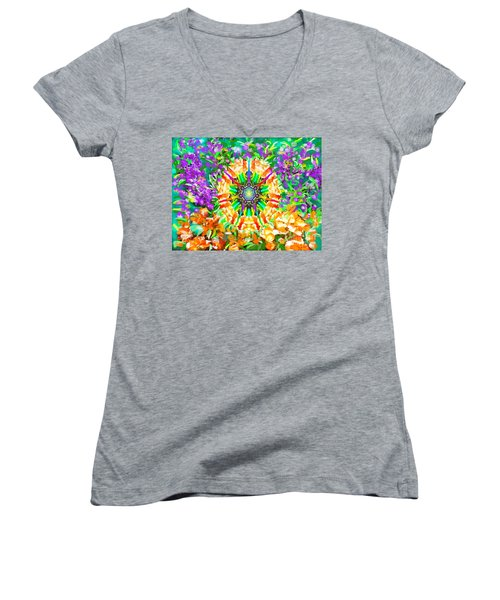Flowers Mandala Women's V-Neck