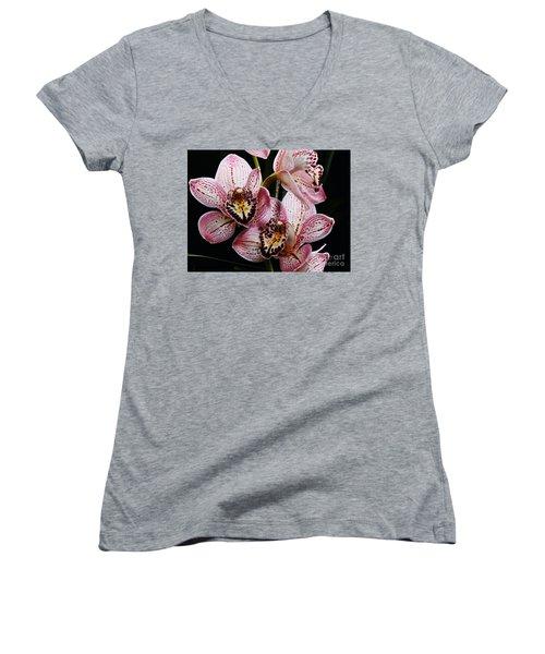 Flowers Of Love Women's V-Neck T-Shirt (Junior Cut) by Scott Cameron