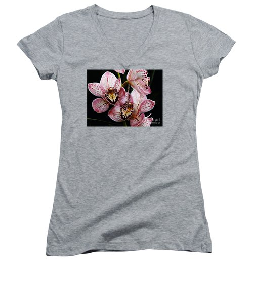 Flowers Of Love Women's V-Neck (Athletic Fit)