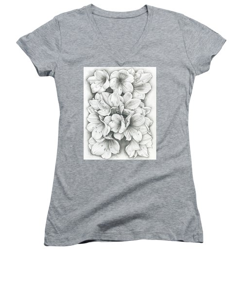 Clivia Flowers Pencil Women's V-Neck