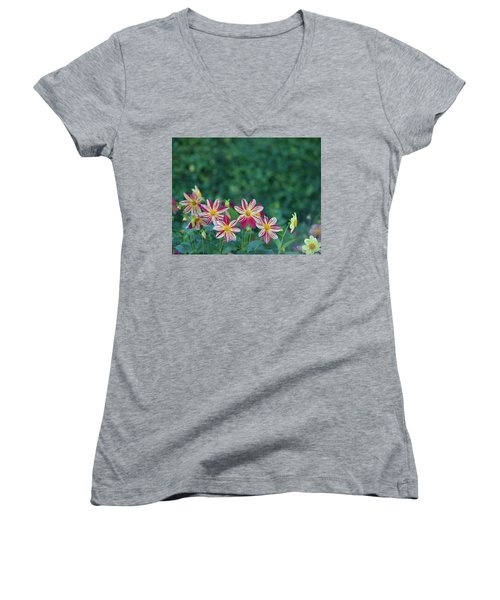 Flowers  Women's V-Neck (Athletic Fit)