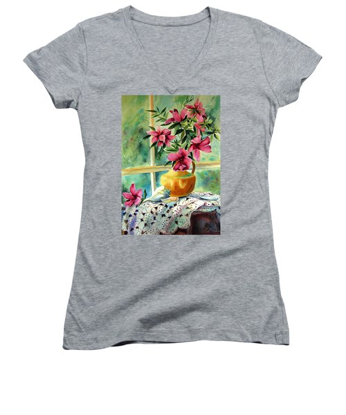 Flowers Shells And Lace Women's V-Neck