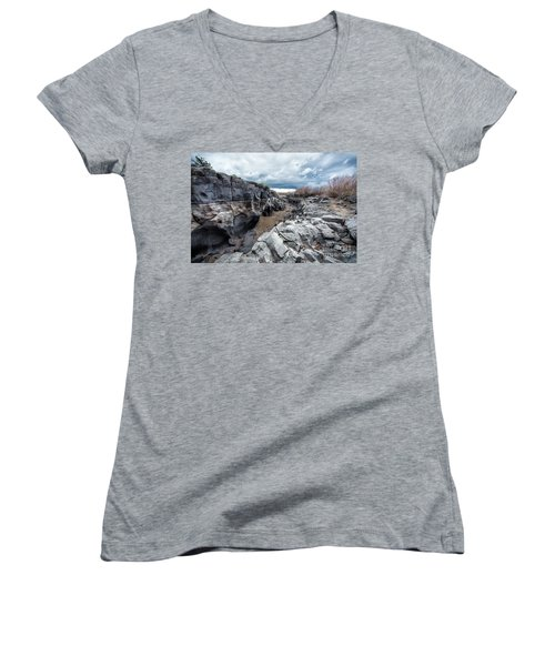 Flowing To The Storm Idaho Journey Landscape Art By Kaylyn Franks Women's V-Neck