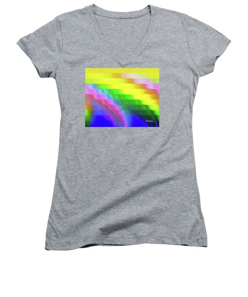 Flowing Whimsical #113 Women's V-Neck (Athletic Fit)