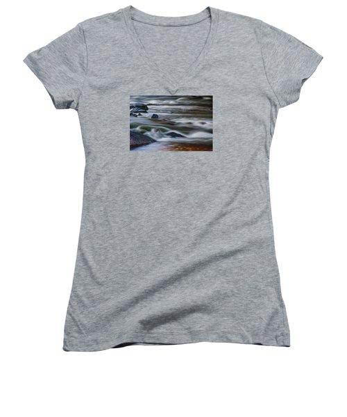 Fluid Motion Women's V-Neck T-Shirt (Junior Cut) by Steven Richardson