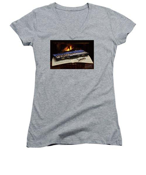 Flute Still Life Women's V-Neck T-Shirt